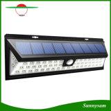La lumière extérieure de détecteur de mouvement d'énergie solaire de 54 DEL avec la DEL sur des les deux côté sans fil imperméabilisent pour le patio, paquet, yard