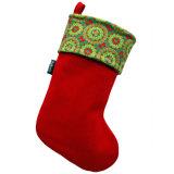De geborduurde Rode Kous van de Decoratie van Kerstmis van de Sneeuwman voor Kerstboom