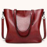 Sacchetto di Tote delle donne di formato della nuova borsa di disegno semplice di Hotsale di fabbricazione il grande dalla fabbrica di Guangzhou con la doppia maniglia lega Sy8555