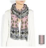 Mode peu d'écharpe de soie de modèle de fleur