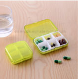 Portable caso médico de la medicina del rectángulo de la píldora del recorrido de 7 días