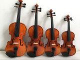 A fábrica do violino produziu o violino de 1/2 no caso Teka Chinrest do violino