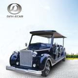 青いカラー12シートの電気ホテル車