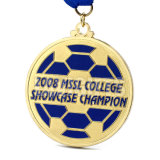 Preiswerte Fußball-Trophäe-Kugel-Preis-Sport-Metallmedaillen-Medaillons des Zoll-3D Miniultra geformte mit Farbband