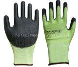塗られるPUが付いている13G Hppeの切抵抗の安全手袋