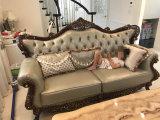 Sofa en cuir classique de Chesterfield pour les meubles de sofa/sofa modernes de salle de séjour