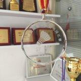 リボンが付いているカスタムガラスメダル、個人化されたロゴの卸売とのスポーツメダルおよびTrophys