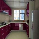 Venda de maioria Finished do gabinete de cozinha da laca vermelha moderna