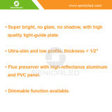 L'indicatore luminoso di soffitto facile dell'installazione LED con ultra sottile dimagrisce