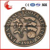 주문 싼 아연 합금 연약한 사기질 금속 포상 메달