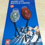 3 최빈값 2PCS/Pair 자전거 빛은 2개의 LED 자전거 운영하는 헬멧을%s 빨간 백색 색깔 안전 경고 램프를 놓았다