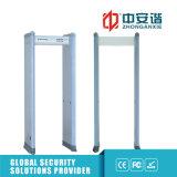 Puerta infrarroja doble de Detecor del metal de la detección de la precisión de las zonas del interruptor 24