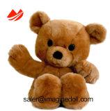 Urso de assento da peluche de Brown do luxuoso com material macio novo