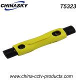 Стриппер коаксиального кабеля Rg59/6/11/7 легкой ручки портативный (T5323)