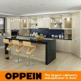 Luz moderna de Oppein - gabinetes de cozinha elevados amarelos da laca do lustro (OP16-L12)