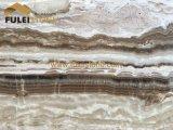 Lastre bianche del travertino del Brown del Onyx del travertino del Onyx
