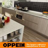 Luxo Grão de madeira da melamina Ilha do armário de cozinha (OP14-M06)
