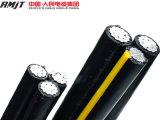 cabo Twisted do ABC do alumínio do cabo pendente do serviço de 1/0AWG 2/0AWG 4/0AWG