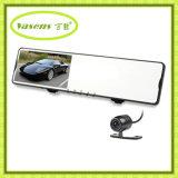 Automobile doppia DVR dello specchio di Rearview della macchina fotografica