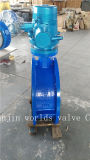 Válvula de borboleta flangeada dobro atuada elétrica com o disco de nylon da pintura (D941X-10/16)