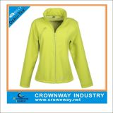 Fashion Windproof Softshell Jacket delle donne con Fleece Padding