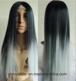 Parrucca diritta naturale dello Synthetic dei capelli di Remy della nuova di modo della parte anteriore parrucca del merletto