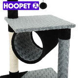ポストデザイナー猫の家具をスクラッチしている現代優雅な猫