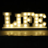 2016 New Design 3D LED Letters with Light para Decorações