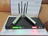 Microfone Handheld duplo do rádio da freqüência ultraelevada da diversidade verdadeira de Dx-88 Skytone