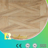 Étage stratifié bordé ciré par teck de texture de fibre de bois du film publicitaire 8.3mm