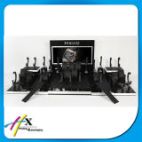 Indicador contrário de madeira preto lustroso elegante da loja do indicador do relógio