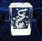Кристаллический гравировальный станок кристаллический лазера портрета 3D рамки фотоего кубика