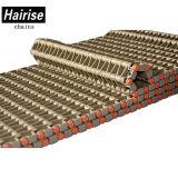 Banda transportadora modular plástica perforada de la tapa plana Har4705 para el alimento