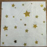 I tovaglioli di carta del partito della stella dell'oro, piegano il tovagliolo di carta