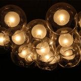 Lámpara pendiente redonda de cristal clara decorativa del hotel europeo