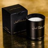 سوداء زجاجيّة مرطبان شمعة مع صنع وفقا لطلب الزّبون علامة تجاريّة