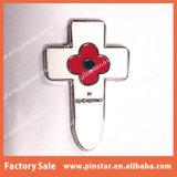 Divisas baratas a granel del Pin de la solapa de la flor de la amapola de la cruz del recuerdo