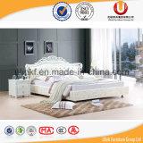 Base di cuoio reale moderna di Furniture&Antique della camera da letto europea (UL-FT318A)