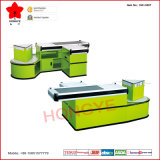 Hypermarché Automatic Checkout Counter Cashier Desk avec Rotating Display (OW-C007)