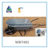 Carrinho de mão de roda galvanizado Wb6414t 160kg da construção
