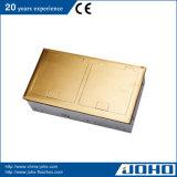 黄銅の開いたタイプ真鍮の床のソケットの防水電力ソケット
