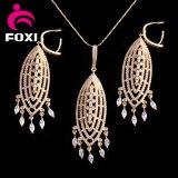 Conjuntos grandes plateados oro puro de la joyería de traje de la venta al por mayor de la joyería de China