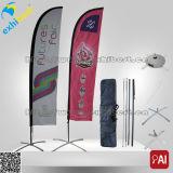 Großhandelsfliegen-Polyester-Strand-Markierungsfahne und Fahne für Verkauf