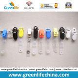El clip plástico colorido W/PVC de la divisa despeja el sostenedor conocido de la correa