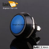 12mm Push Button Switch V12 Zn 알루미늄. Blue Actuator를 가진 합금