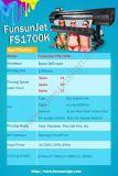 Impressora solvente do vinil de Funsunjet Fs1700k 1.7m Eco com uma velocidade de impressão Dx5 rápida principal
