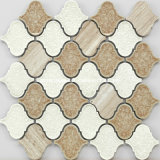 2016年の豪華なCrackle Ice Ceramic Mixed Marble Mosaic Tiles