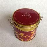 Runder Förderung-Zinn-Kasten für Kaffee-Paket-runden Behälter