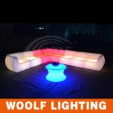 El LED enciende para arriba el sofá de la barra con el sofá teledirigido del LED