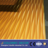 MDF decorativo Wall Panel de Wall Covering 3D Wave para a tevê Background